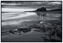 Bamburgh Castle (blue toned)