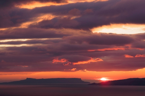 Sunset over Eigg & The Sound of Sleat